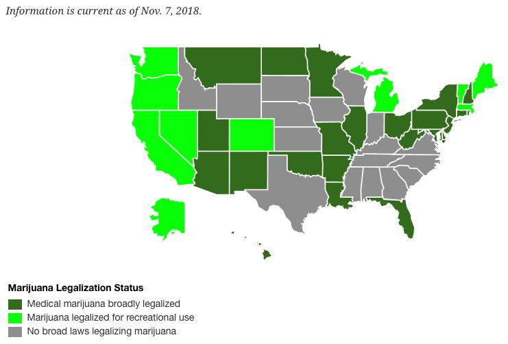 legal marijuana states